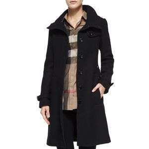 Burberry Rushfield Wool Blend Single Breast Coat 4